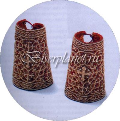 До середины XVIII века бисер только дополнял вышивку жемчугом, нитками.