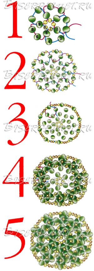 Схема к колье Проталина