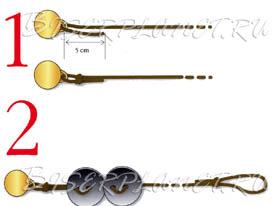 Схема к браслету из пуговиц