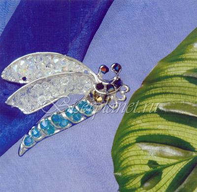 Схемы брошей из бисера и кристаллов